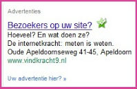 adwords advertentie vindkracht 9