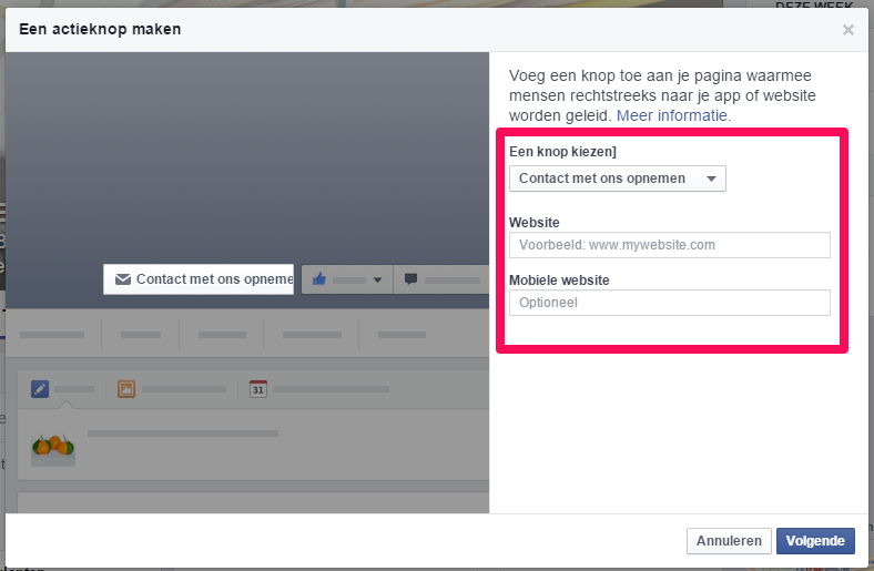 Facebook CTA button4