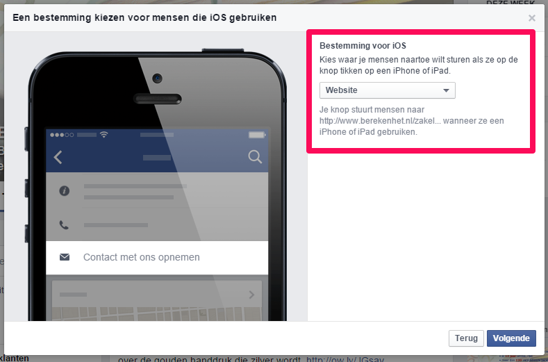 Facebook CTA button5
