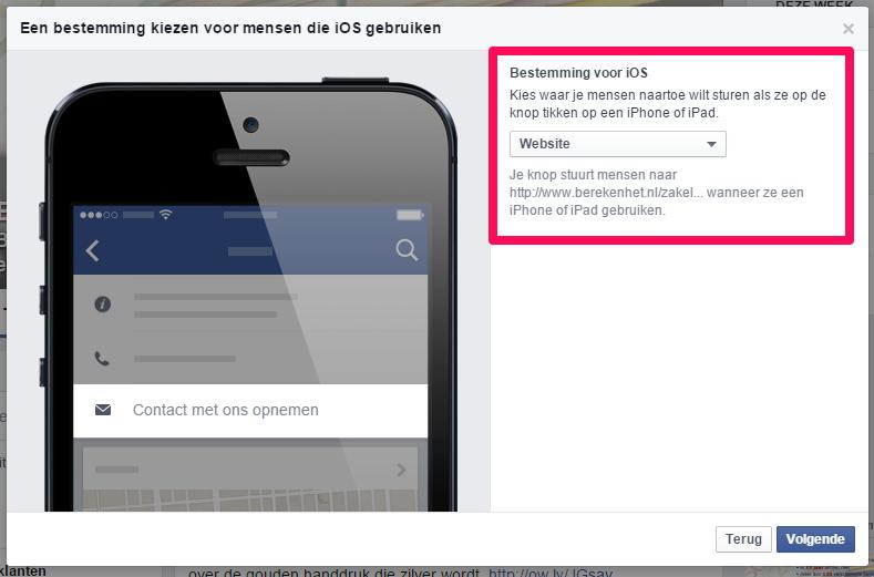 Facebook CTA button5