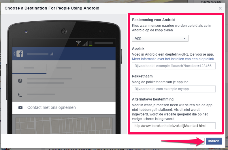 Facebook CTA button6